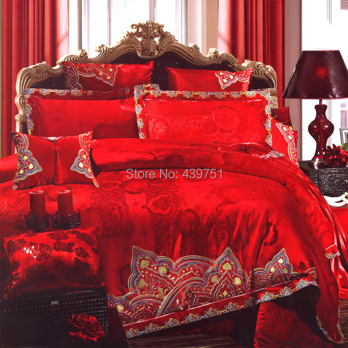 Buy Luxury Chinese Red Wedding Bedding