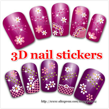 wholesale professional varity designs nail art beauty patch decoration Nail Stickers tips 1000 packs/lot free DHL/EMS shipping