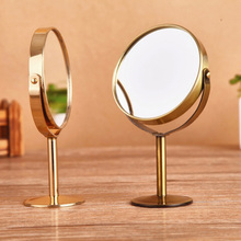 Metal Two-sided Makeup Cosmetic mirror bronze Copper Retro styling Desktop mirror Amplification function Mini Portable mirror(China (Mainland))