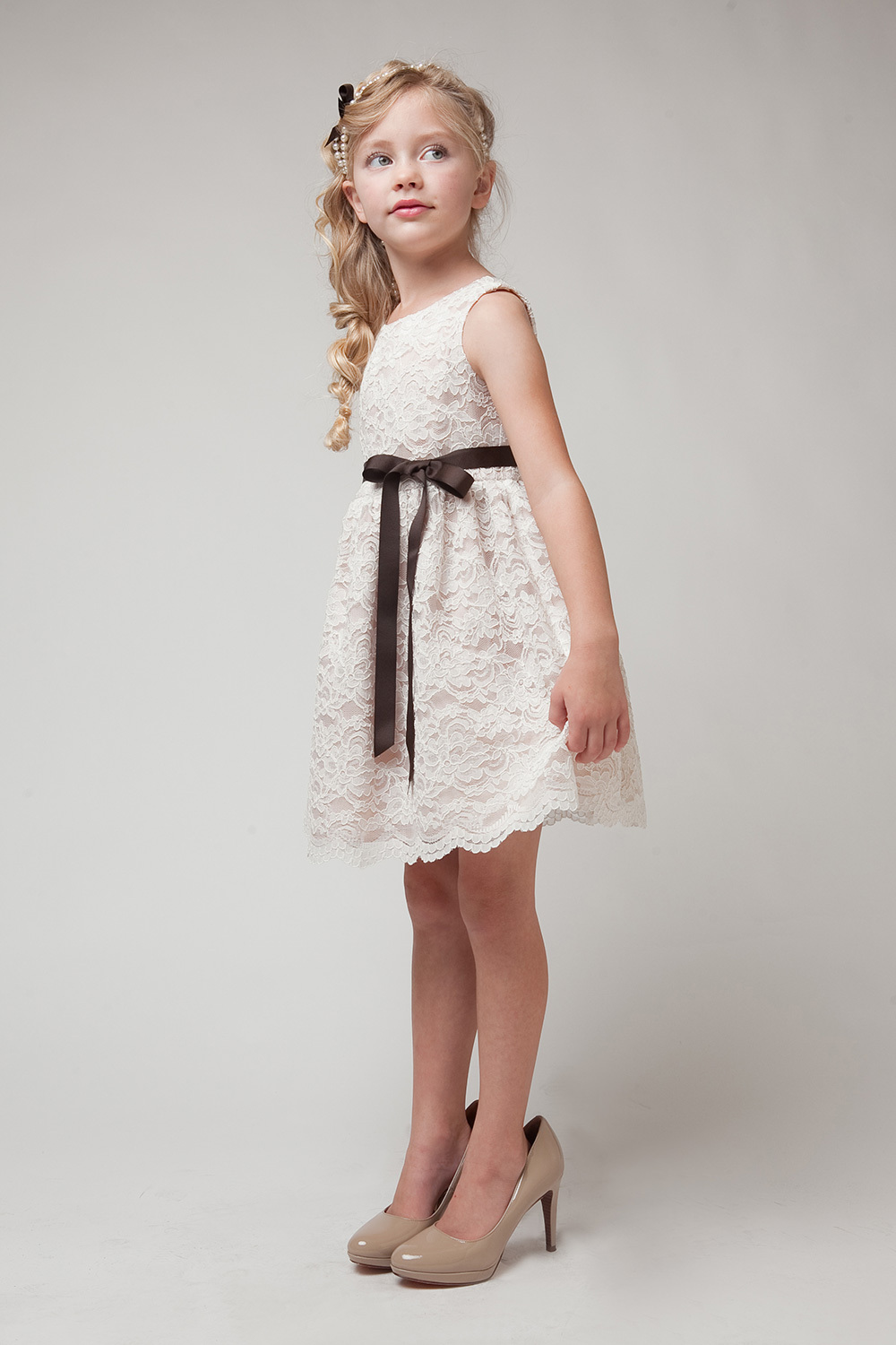 Browns. Toggle Filters Flower Girl Dress Style Choice of White or Ivory Dress with Chocolate Brown Sash and Petals Girls Dress Style BROWN Taffeta and Lace CREATE YOUR OWN DRESS. $ $ Brown Dress with Choice of 26 Sash and 23 Flower Options.