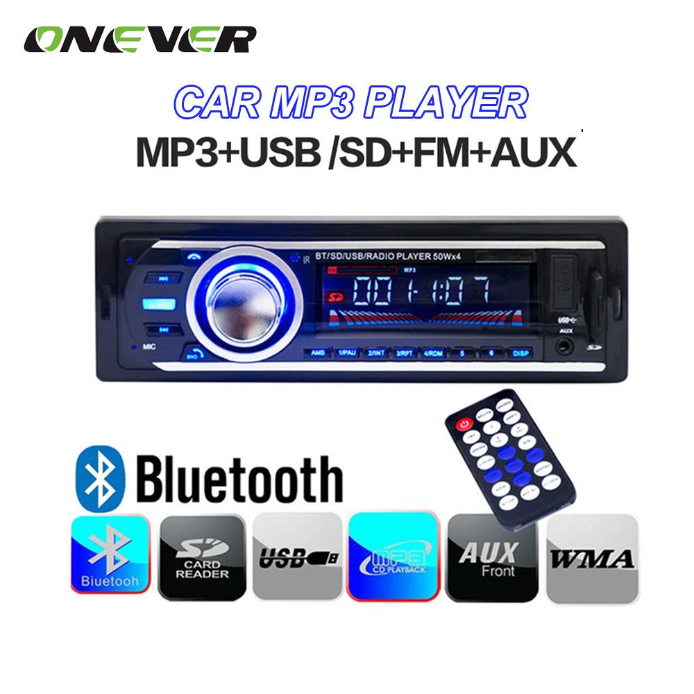 Universal 12V Car Tuner Stereo Bluetooth FM Radio MP3 Audio Player Phone USB/SD MMC Port Car radio Bluetooth Tuner In-Dash 1 DIN(China (Mainland))