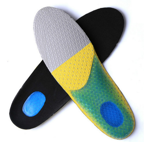 Breathable high-elastic foam EVA silicone sport insoles dampness wick, odor removal, slow pressure shock absorption free ship(China (Mainland))