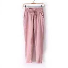 2016 New fashions Women's Pants Long Casual Harem Pants Women Pure Color Elastic Chiffon Sport Trousers AB17(China (Mainland))