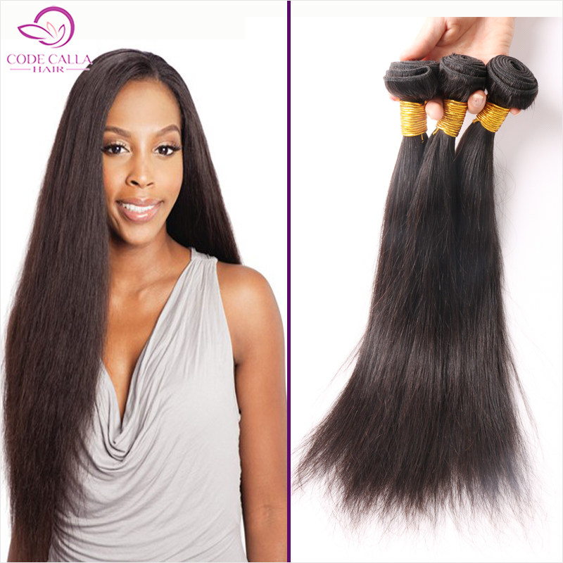 Brazilian virgin hair straight 7A virgin straight hair 4pcs/lot remy human hair extension brazilian hair weave bundles	 ZS74