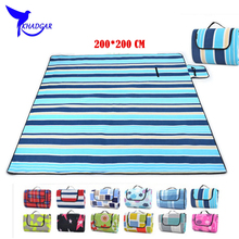 High Quality 3 Layers Thicken 200*200 CM Waterproof Outdoor Camping Mat Foldable Beach Mat Picnic Blanket Tent Mat Sleeping Pad(China (Mainland))