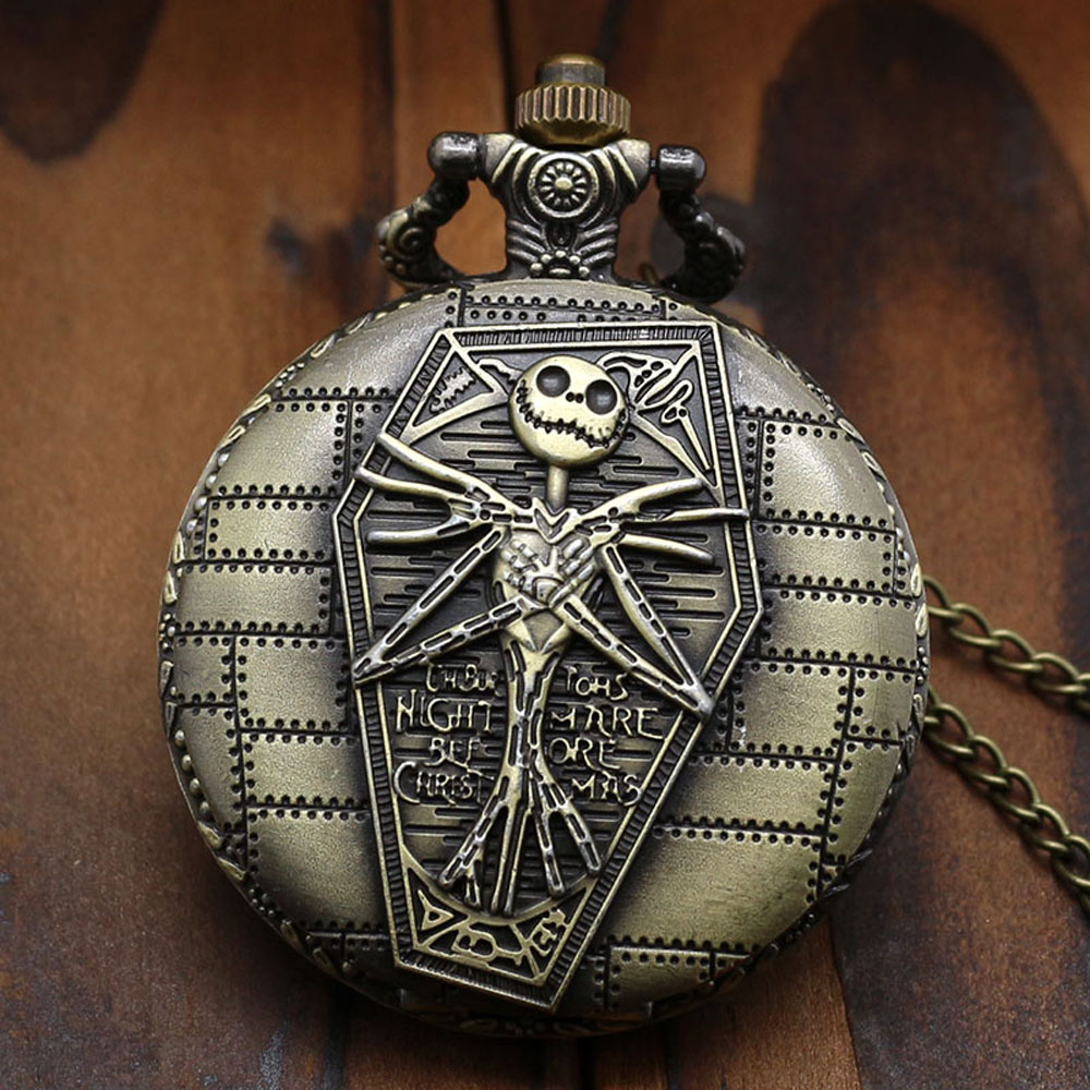 2015 New Arrival The Burtons Nightmare Before Christmas Pocket Watch P769<br><br>Aliexpress