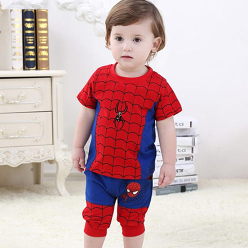 Baby Boys Clothing Sets Short-Sleeve + Pants Boy Clothes Cotton Cartoon Children Summer Kids 6-32Month - England apparel store
