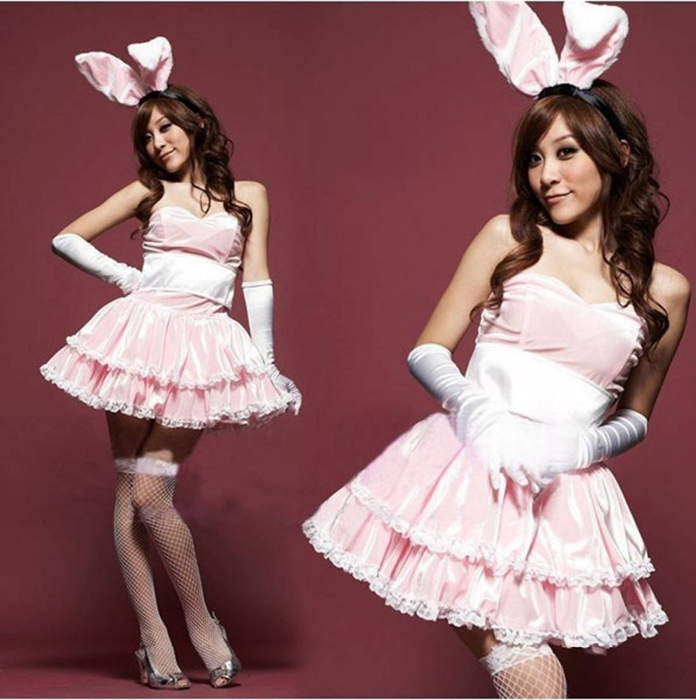 Christmas costumes halloween women Xmas sexy lingerie pole dance bunny fantasias Rabbit girl uniform nightclub 65101(China (Mainland))