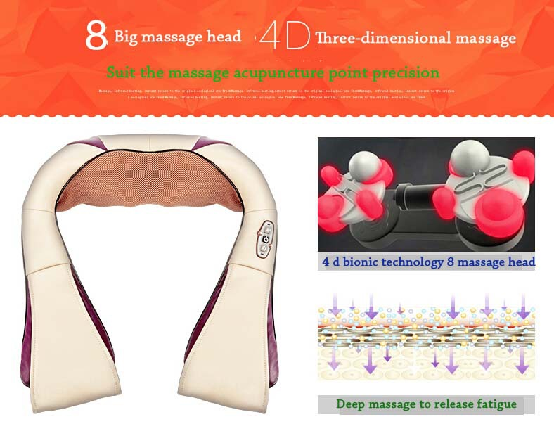 Brand shawl massager Kneading massage shawl neck shoulder car Cervical spine massager instrument neck shoulder waist household(China (Mainland))