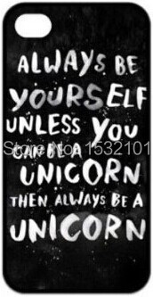 Custom Always be a unicorn Cover Case for iPhone 4 4S 5 5S 5C 6 Plus iPod Touch 5 Case(China (Mainland))