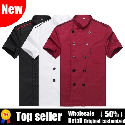 New Summer Cheap Double Breasted Chef Master Work Uniform