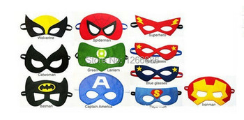 1000 pcs lote parti costumes feutre masque de super h ros - Masque superman ...