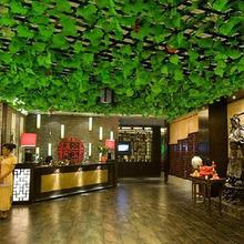 10Pcs Hot sale Green Artificial Plastic Ivy Leaf Vivid Plants Vine Foliage Flowers Home Decoration(China (Mainland))