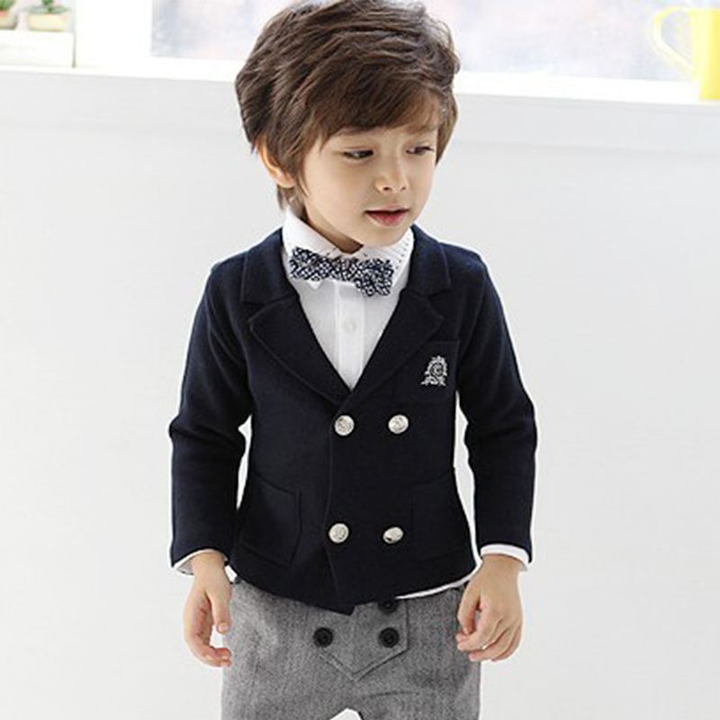 Free shipping! !Children's Clothing Male Child Spring Blazer British Style Spring And Autumn Boys Outerwear(China (Mainland))