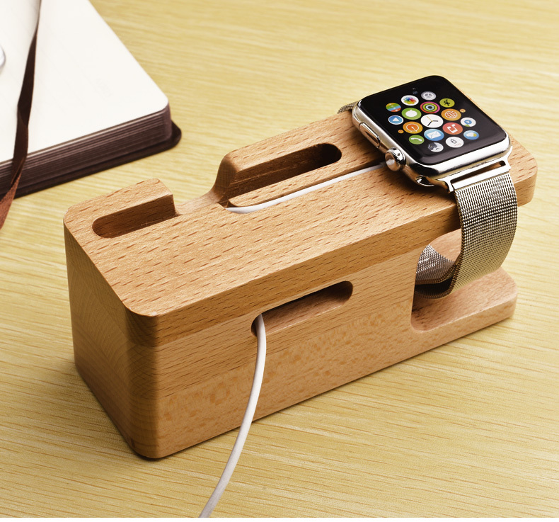 Wooden Phone Stand ~ Goestime wooden portable universal phone holder stand for
