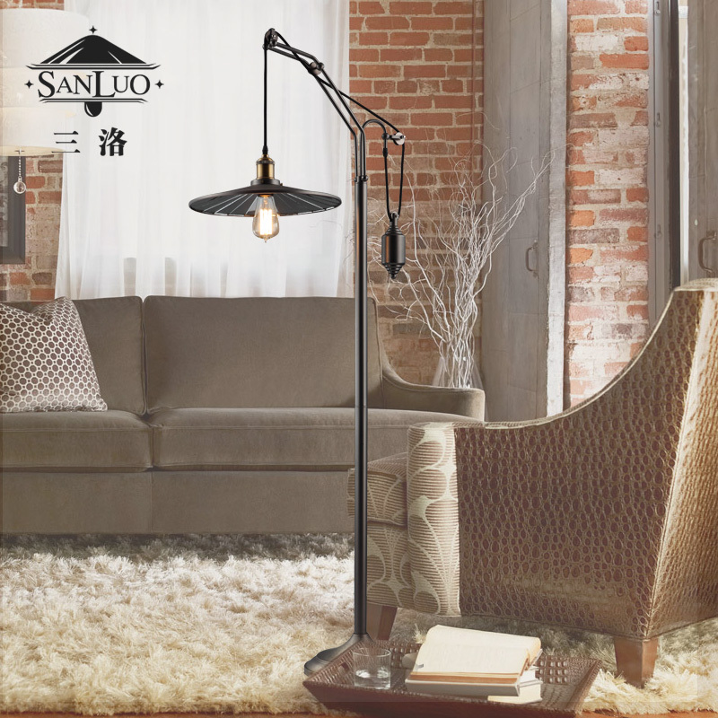 Three Los American Country Retro Luxury Living Room Floor Lamp Bedside Lamp Lift Affixed Inside