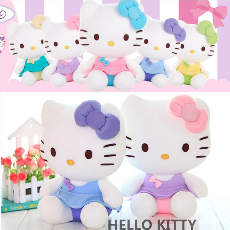 30cm Top Quality kawaii Hello Kitty Plush toys classic Stuffed Animal kids toys Dolls for Girls Birthday and Children's day gift(China (Mainland))