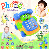 Free shipping cp565-1 Baby Toys phone /Child  music phone/ ring backguy smiley phone belt diabolo dial phone/ educational toys