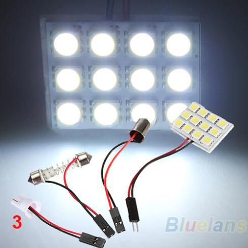 9 12 15 20 24 48 LED SMD Car Interior Reading Doom Light Panel T10 Festoon