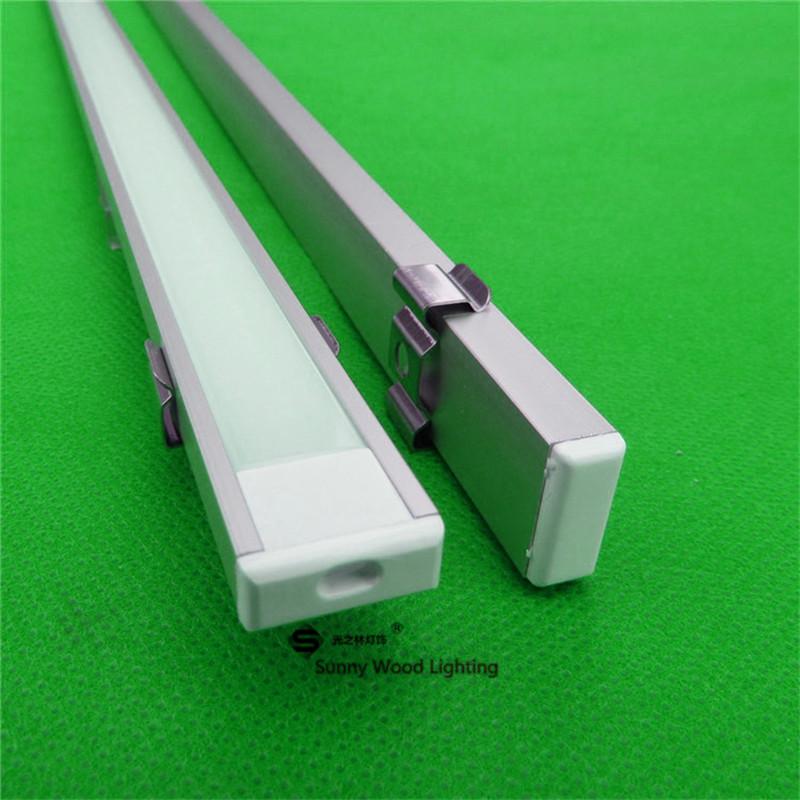 20m/lot 10PCS 80inch 2m long anodized led aluminium profile for 5050/5630 strip ,ked channel for12mm pcb, LED bar light AP-1607(China (Mainland))