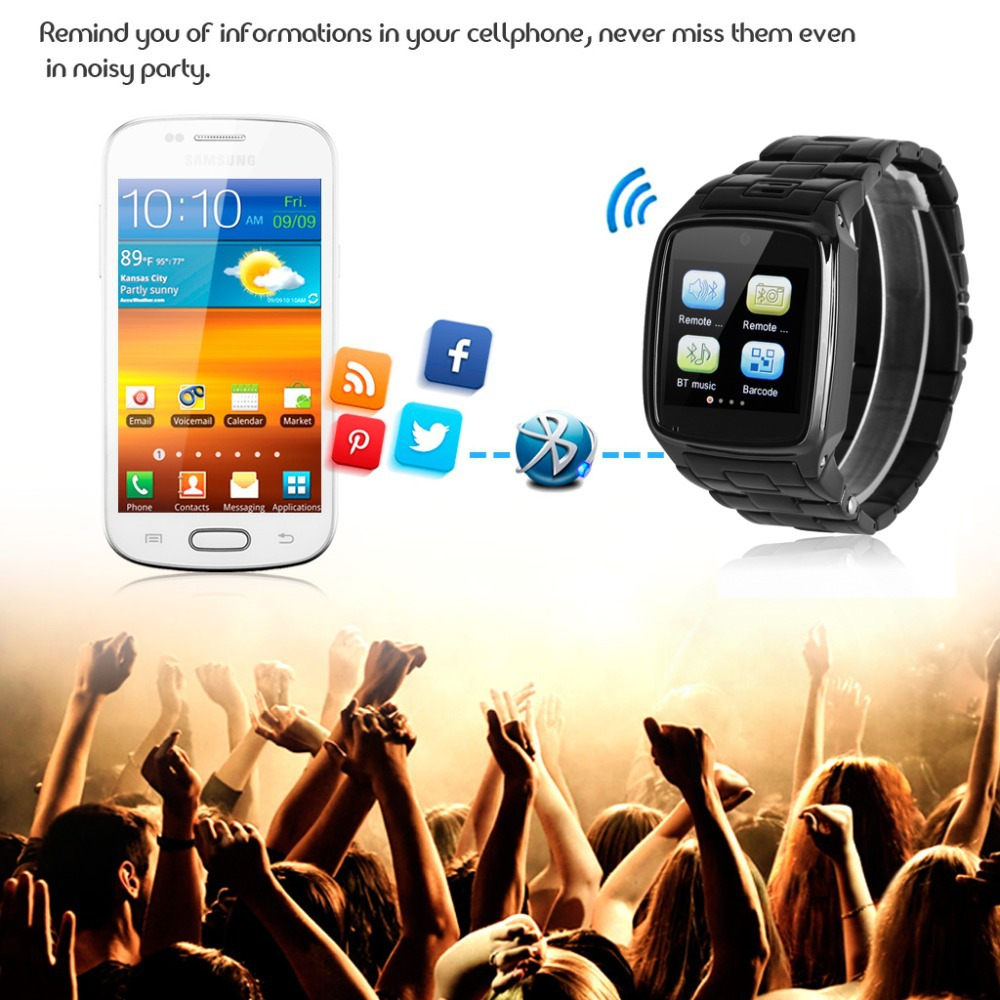 Bluetooth Smart Wrist Watch Unlocked SIM Watch As A Phone Sync Call Music Reminder Anti-lost Phone Mate For Andriod & For IOS(China (Mainland))