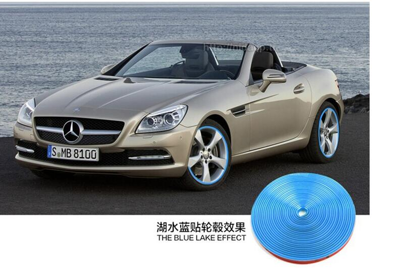 Automotive wheel stickers 8 Meter/RollforMercedes Benz W203 W204 W205 W211 Cadillac ATS SRX CTS For Lexus RX Porsche Accessories(China (Mainland))
