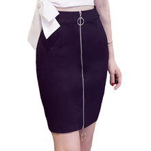 Buy 5XL Plus Size Women Pencil Skirts 2017 Elegant High Waist Bodycon Skirt Fashion double zipper Elastic Work Office Mini Skirt for $11.13 in AliExpress store