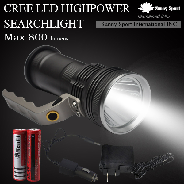 Searchlight Light LED Portable Best Handheld Spotlight Cree R5 LED Flashlight for Camping Rechargable Lamps + Battery + Charger(China (Mainland))