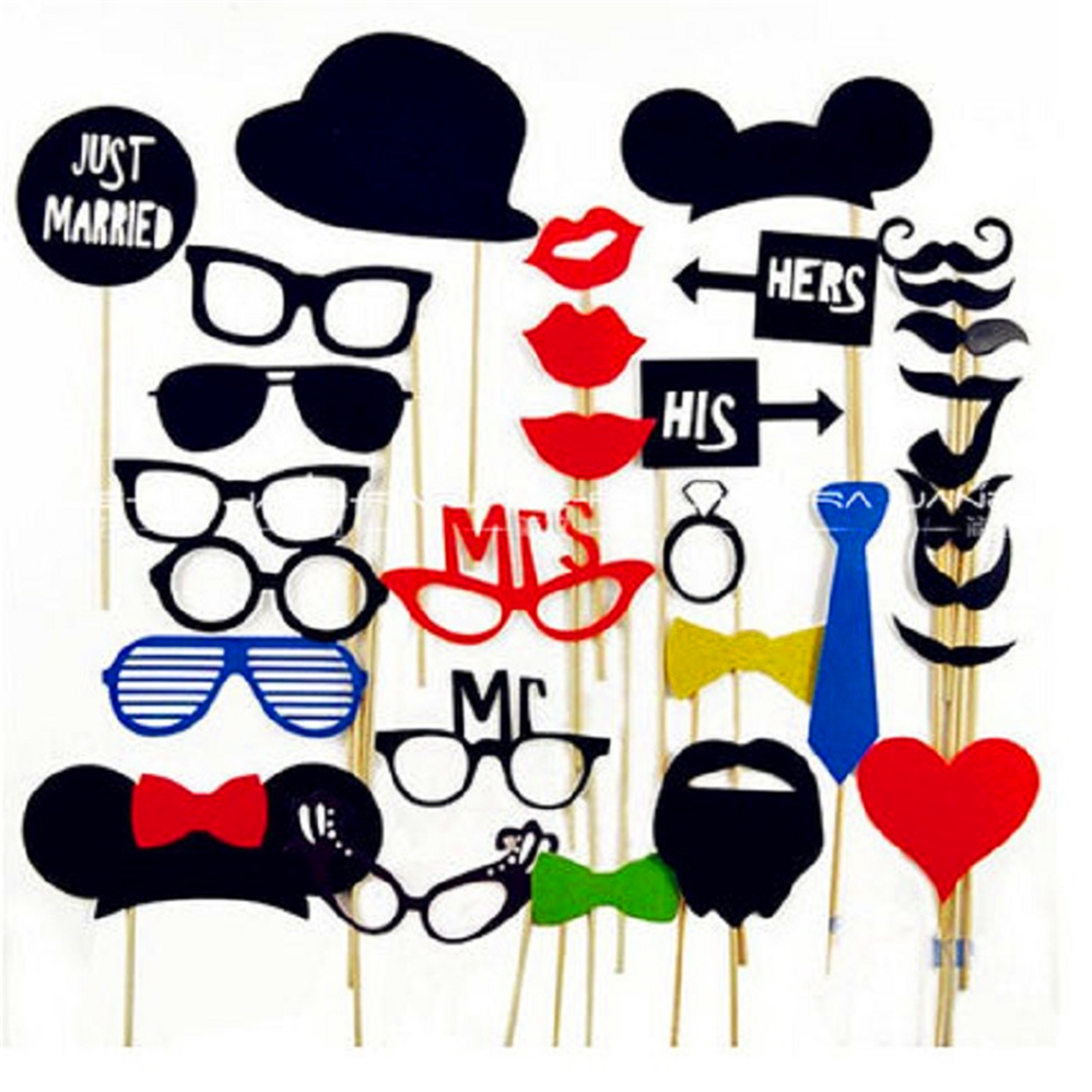 Photo Booth 34PCS/Set wedding party decoration DIY 2016 New PartyEvent Masks Mustache On A Stick PhotoBooth Props Party Supplies(China (Mainland))