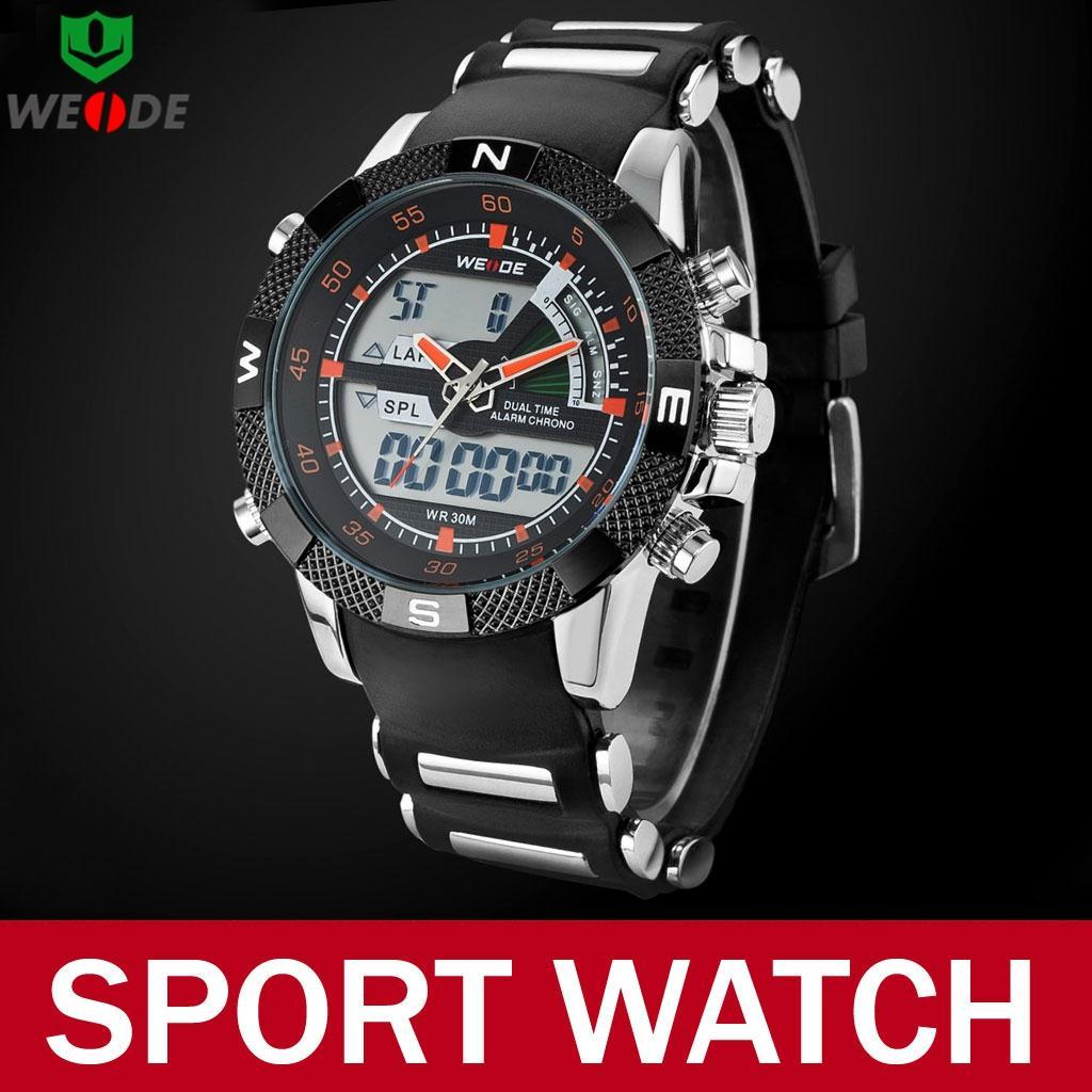 2015 Fashion Silicone Band Watch 3 ATM Waterproof Military Quartz Analog Digital Wristwatch Male Relojes Hombre - Atolla Global Flagship Store store