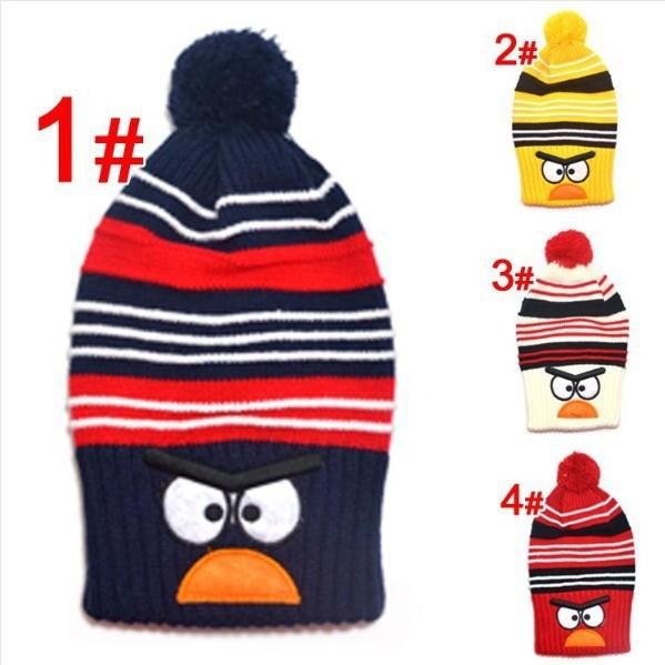 Kids animal hats Lovely benaies Child winter knitted hat Bird design Warm long cap baby hat(China (Mainland))