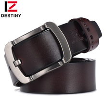 Buy DESTINY men belt luxury famous brand designer high genuine leather belt strap male vintage wide buckle jeans 4 color for $10.52 in AliExpress store