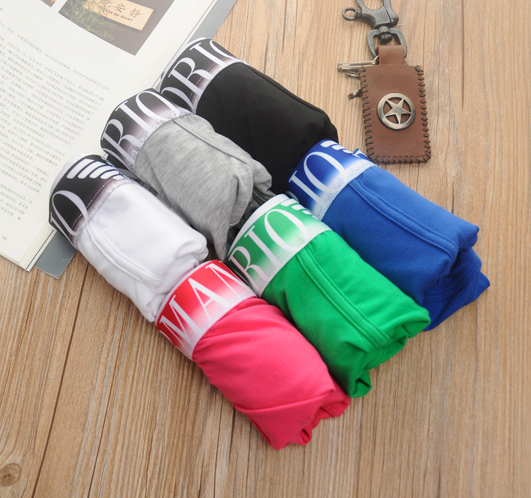 FASHION style [5Pcs] Men Underwear with packaging shorts brand new Cotton sexy Mens Boxer Pants HOT(China (Mainland))