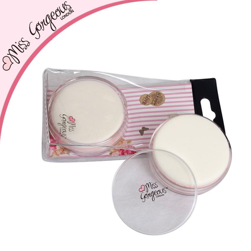 Miss Gorgeous Round Powder Puff Dry Wet Amphibious Cosmetic Makeup Sponge Soft Beauty Foundation Sponge With Hard Plastic Case(China (Mainland))