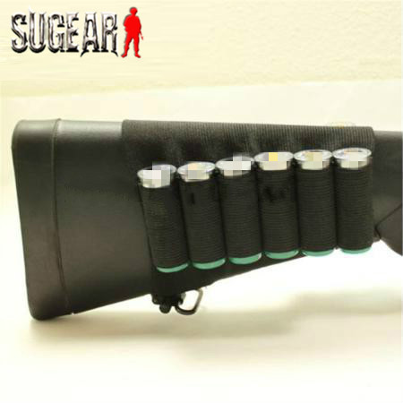 Airsoft Hunting Nylon Buttstock Rifle 8 Cartridge Holder Outdoor Military Paintball Ammo Rifle Gun Bullet Carrier for Hunting