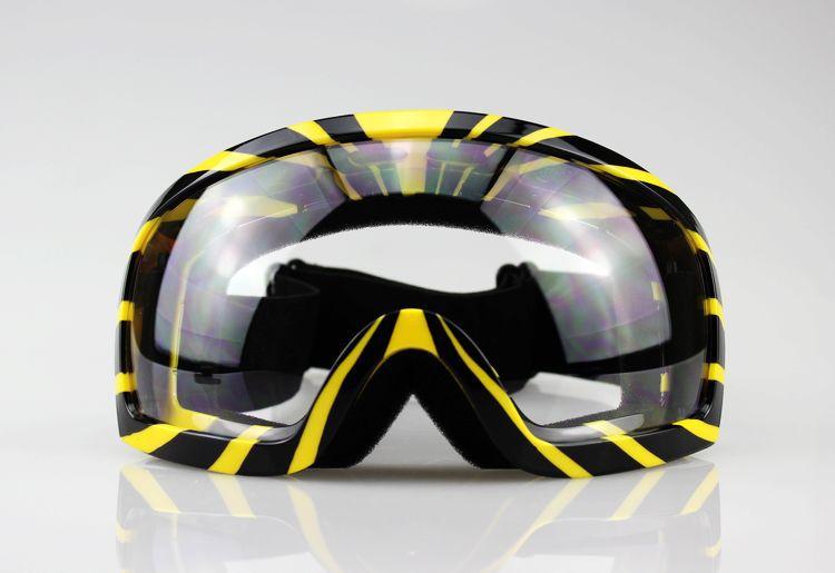 Snowboard Black with Yellow Frame Ski Goggles Eyewear Clear Lens Snowboard Motorcycle man free shipping(China (Mainland))