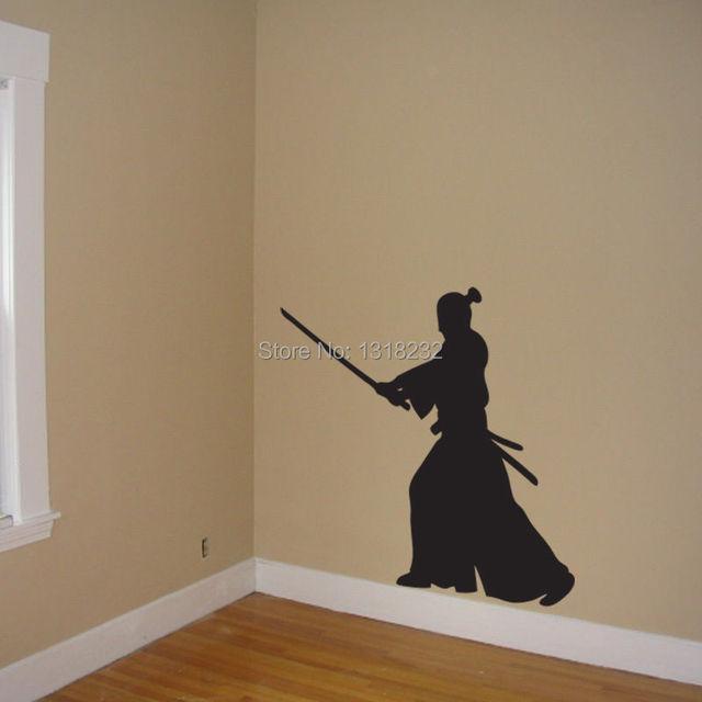 vinyl wandaufkleber samurai wandtattoo wand kunst. Black Bedroom Furniture Sets. Home Design Ideas