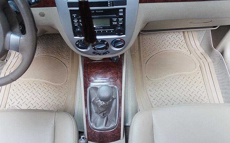 5pcs Sets Classic Beige Clear PVC Plastic Man Universal Waterproof Auto Foot Carpet Car Floor Mats(China (Mainland))