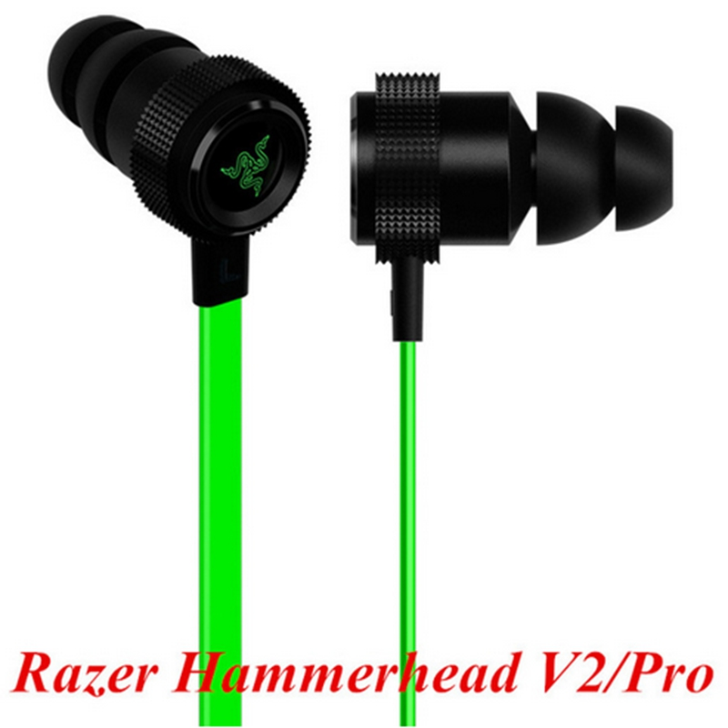 New Razer Hammerhead V2 Pro Earphone With Microphone No Retail Box In Ear Gaming Headsets Noise Isolation Stereo Deep Bass(China (Mainland))