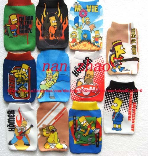 120pcs The Simpson Family MOBILE PHONE bags Pouch Socks(China (Mainland))
