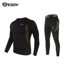 Men Thermal Underwear,ESDY Brand Mens Outdoor Sport Suit Tight Men Thermo Underwear Fleece Military Army Autumn-Winter(China (Mainland))