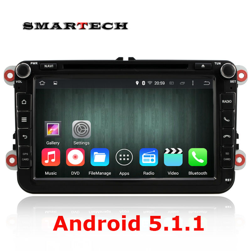 Android 5 1 quad core 2 din car radio gps dvd player For VW Volkswagen Passat