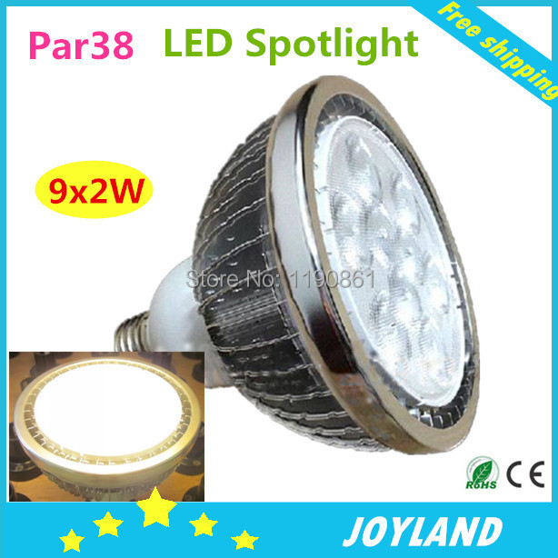 9X2W LED spotlight lamp E27 Dimmable par30 par38 led light bulb downlight white warm white110-220v Free shipping(China (Mainland))