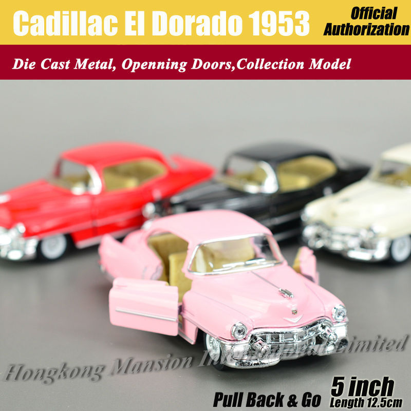 1:36 Scale Diecast Classic Car Model For Cadillac El Dorado 1953 Collection Model Pull Back Toys Car - Pink/Red/White/Black(China (Mainland))