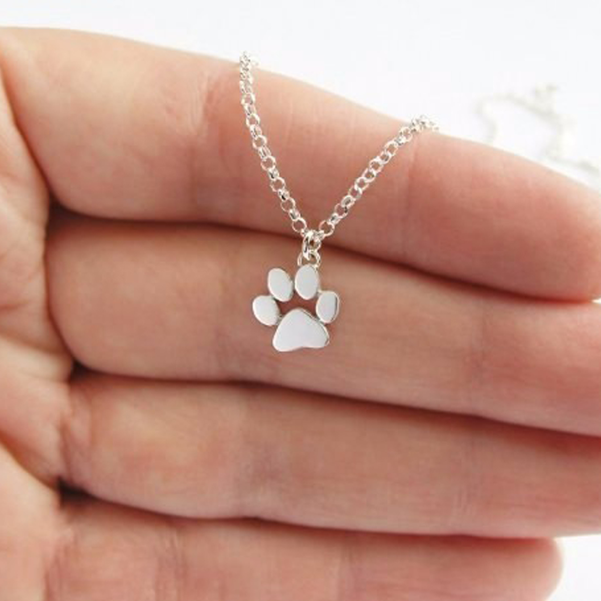2017 Choker Necklace Tassut Cat and Dog Paw Print Animal Jewelry Women Pendant Long Cute Footprints Delicate Statement Necklaces