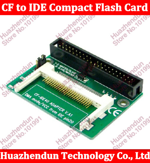 """5pcs CF to IDE Compact Flash Card Adapter Bootable 40pin CF to IDE 3.5"""" HDD Hard Drive Converter Adaptor 3.5 inch Male Connector(China (Mainland))"""