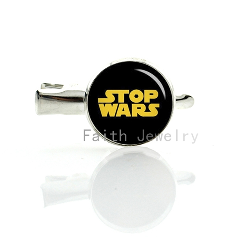 Stop Wars hairgrips classic star wars style design anti-war logo personalized peace hairpin spoofs hair clip pins jewelry T809(China (Mainland))
