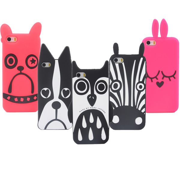 Hot Style Soft Silicone Cute Cartoon Animal Pattern Phone Cases Cover Cartoon Case For iPhone 5G 5 5S 5C Phone Case S0197(China (Mainland))