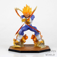 Free shipping Anime Dragon Ball Z Super Saiyan Vegeta Battle State PVC Action Figure Collectible Model Toy 15CM