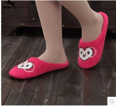 Cotton Home Slippers Female Waterproof Non-Slip Soft Bottom Shoes Home Shading Drag Heavy-Bottomed Wooden Floor Indoor Slippers<br><br>Aliexpress